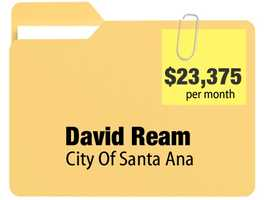 No. 6: David Ream receives $23,375.33 a month for an annual $280,503.96 pension from the city of Santa Ana.