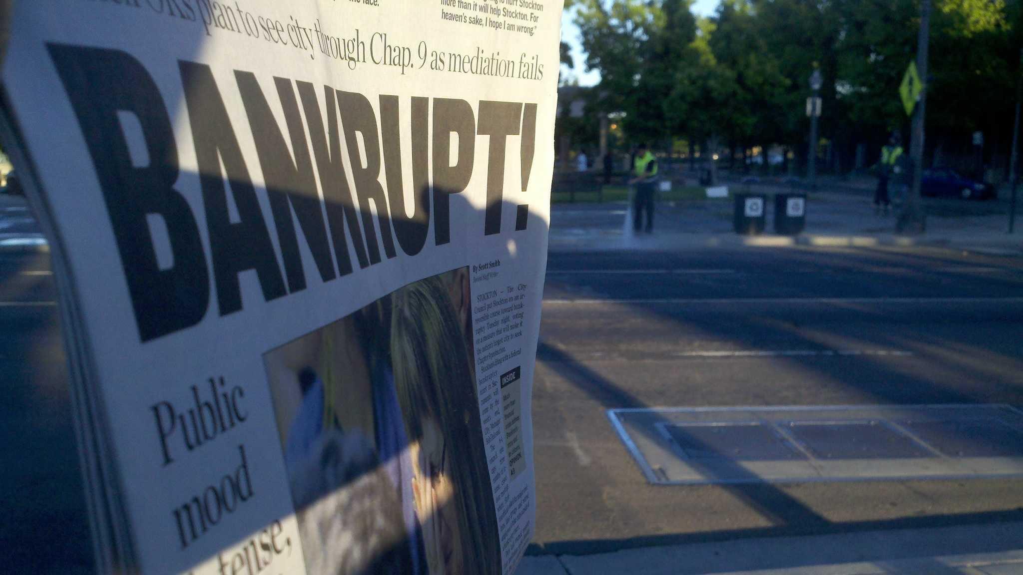 Stockton bankruptcy headline