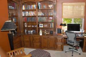 The residence has this home office.