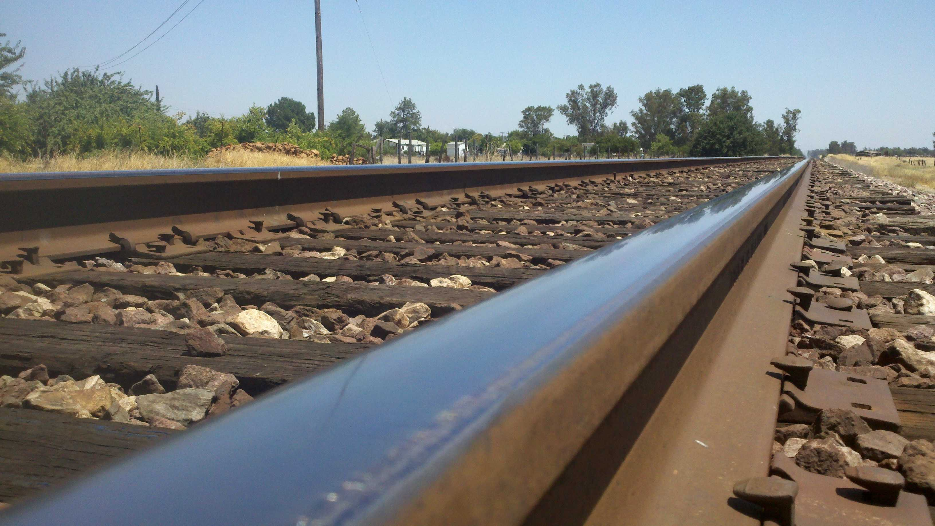 The high-speed rail line would parallel this existing line through Madera Country, but travel at four times the speed of Amtrak trains.