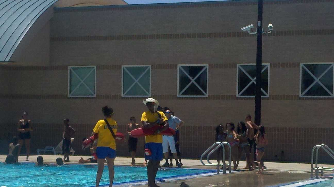 Triple-digit weather is expected sometime this week in the region. Although it did not quite hit 100, children in south Sacramento were content to play inside a Meadowview pool.