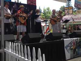 The Vintage Fare band entertains fairgoers on the Promenade Stage.