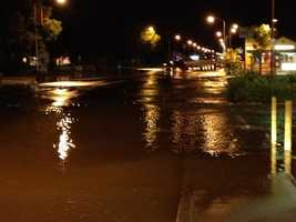 A water main break floods parts of Franklin Boulevard and Highway 99 on Wednesday morning.