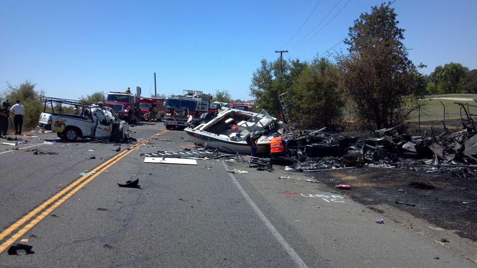 One person was killed and two injured in a head-on crash along Jackson Highway Wednesday in Rancho Murieta.