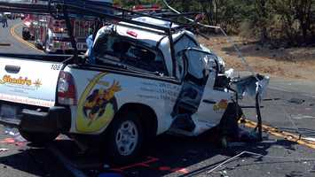 A pickup truck was travelling westbound near Murieta Parkway before the crash.