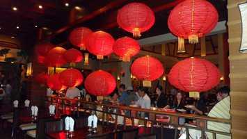 Red lanterns inside Red Lantern.