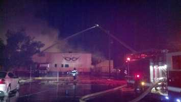 On Monday, more than 100 firefighters in the Sacramento area battled two large warehouse fires that are considered suspicious on Dos Rios Street and Richards Boulevard.