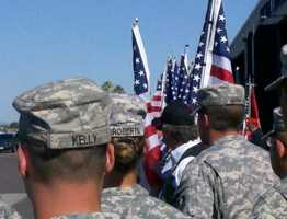 California Army National Guard soldier Spc. Benjamin Pleitez was transported to a funeral home for a private viewing.