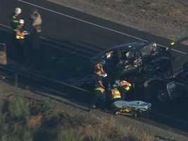 The crash was near Victoria Island on Highway 4.