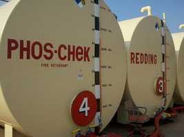 These tanks hold fire retardant.