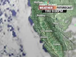 The Sierra might see some showers entering the three-day weekend. See when and where they might hit. **FutureCast rendered Thursday afternoon and is subject to change.
