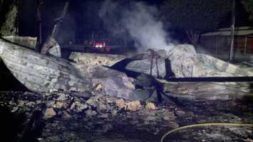At least four horses died in a fire on Meridian Road, in Dixon, early Friday morning.