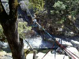 Somehow thrill seekers who go highlining in El Dorado County manage to substitute fear and stress with inner calm and solace.