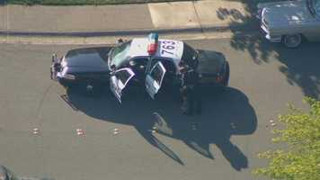 The pursuit ended when the vehicle crashed at Sunrise Boulevard and Douglas Road in Roseville.