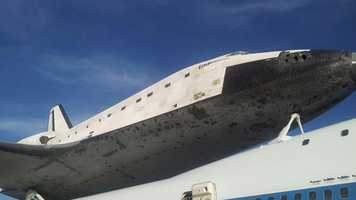 Endeavour at the Shuttle Landing Facility in Florida.