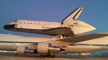 The Shuttle at Edwards Air Force Base on Sept. 21, 2012