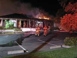 Four Carmichael businesses were gutted by fire Monday morning.