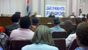 The League of Women voters held a candidates' forum in Stockton on Monday.