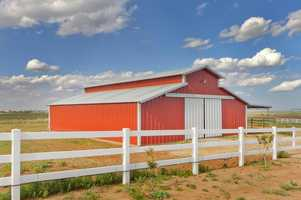 This barn is 1,710 square feet and is hooked up with electricity, water, stalls, feed room and tack room.