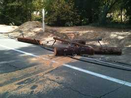 A street near American River College was closed for several hours as crews worked the area near the toppled pole.