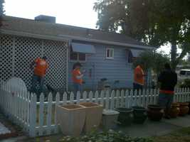 Sacramento resident and U.S. Army veteran Jerold Morey got a helping hand from a brigade of volunteers.