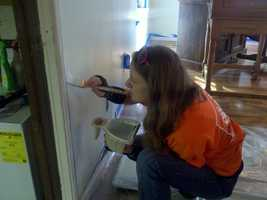 Volunteers installed some safety features as well.