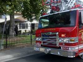 A fire that might have started inside a kitchen spreads at a four-unit complex in south Sacramento on Thursday.