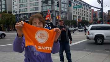 San Francisco Giants fans rejoice over Thursday's series-winning game.