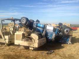 Both southbound lanes of Interstate 5 at Twin Cities Road reopened Monday morning, following a big rig crash in Sacramento County that dumped hay onto the roadway.