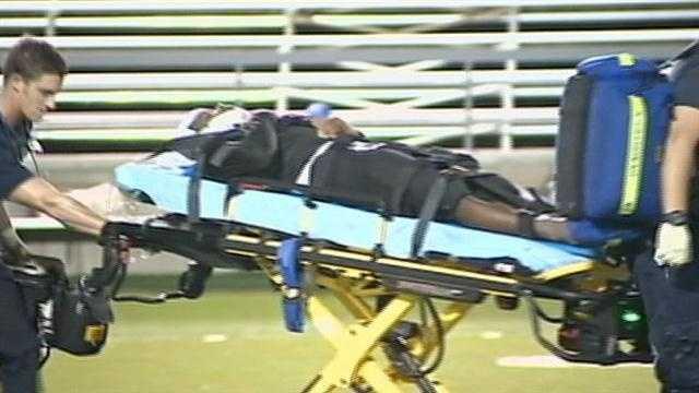 Sierra Ridge football injury