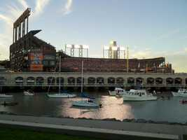 Photo from Game 2 of NLCS in San Francisco.