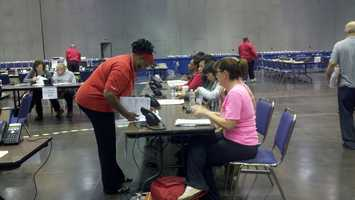 On Thursday, dozens of people waited in line for a free mortgage-relief program at the Sacramento Convention Center that puts them face to face with their lenders, and can lower their monthly payments (Oct. 18, 2012).