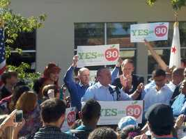 Earlier this week, Gov. Brown was at UCLA pitching for Prop. 30.