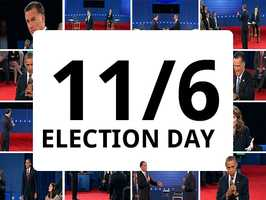 Election Day will be Nov. 6.