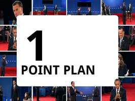 """President Obama has called Romney's five-point plan a one-point plan, saying during a debate that the plan """"is to make sure that folks at the top play by a different set of rules."""""""