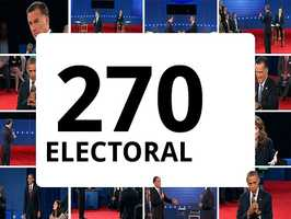 In order to get elected, President Barack Obama or Gov. Mitt Romney will need to secure 270 electoral votes on Election Day.