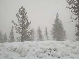 Snow falls Wednesday in Donner Lake.