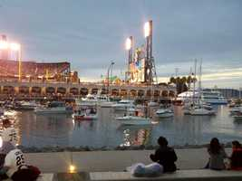 Outside AT&T Park during Game 1 of the World Series between the Detroit Tigers and San Francisco Giants.  (Oct. 24, 2012)