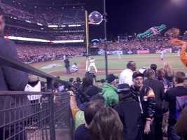 KCRA's Chris Riva shot this photo of Pablo Sandoval up to bat during Game 1 of the World Series.