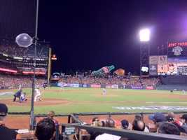A view from inside AT&T Park during Game 1. (Oct. 24, 2012)