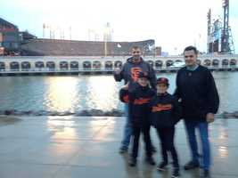 People around town are getting into the Giants spirit as Game Two approaches (Oct. 25, 2012).