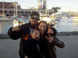 Fans enjoy the atmosphere of Game 2 in San Francisco near McCovey Cove on Thursday.