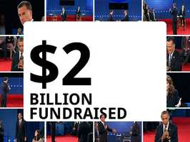 The 2012 presidential campaign passed the $2 billion mark in fundraising, fueled by an outpouring of cash from both ordinary citizens and the wealthiest Americans.