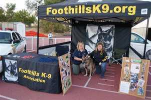 Foothills K-9 Association booth.