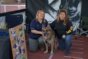 Representatives in the Foothills K-9 booth.
