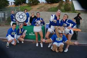 Del Campo Cheer showing off their presentation skills.