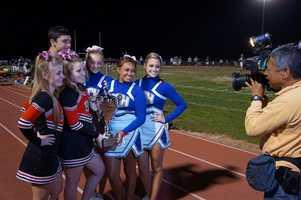 Cheerleaders...live...on...KCRA 3.