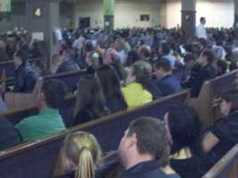 People packed the church Saturday for a memorial service to honor the fallen victims of a triple homicide in Rancho Cordova on Tuesday. Gregoriy Bukhantsov is accused of killing his brother's wife and two toddlers (Oct. 27, 2012).