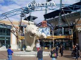 Comerica Park in Detroit before Game 3 of the World Series. (October 27, 2012)