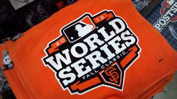 San Francisco Giants fans flocked downtown and to apparel stores on Monday, one day after the Giants swept the Tigers in Detroit for the 2012 World Series (Oct. 29, 2012).